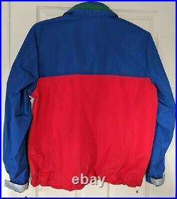 $199 SMALL Tommy Hilfiger ARCHIVES Jacket Waterproof Windbreaker 90s Retro Lotus