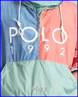 $298 POLO RALPH LAUREN Mens Sz L 2020 Polo Sport 1992 Windbreaker Hoodie Jacket