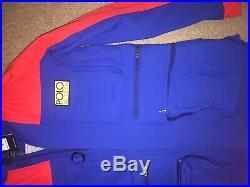 $598 POLO RALPH LAUREN Men's Jacket Small Hi Tech Royal Waterproof Anorak Coat