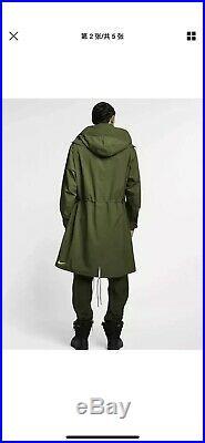 $650 Nike Nikelab ACG Gore-Tex Hooded Coat Olive Green AQ3516-395 Size S Small