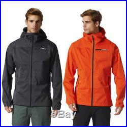 Adidas Mens Terrex Multi 3 Layer Jacket Goretex GTX Waterproof Hooded Shell Coat