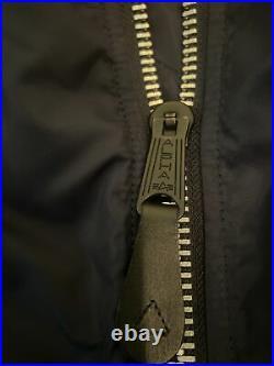 Alpha Industries Medium Navy Blue Slim Fit Bomber Jacket