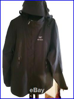 Arcteryx Gore-Tex Black Size XL Jacket Mint Condition! Hood with windows