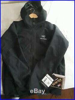 Arcteryx Mens Zeta SL Goretex Waterproof Rain Jacket Black Large L