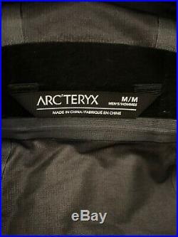 Arcteryx Sawyer Gore TEX rain jacket. Mens Medium, black