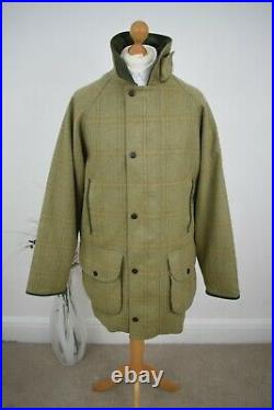 BARBOUR Double Twist Tweed Shooting Coat Size Large 40/42 Mr Porter Schoffel 52
