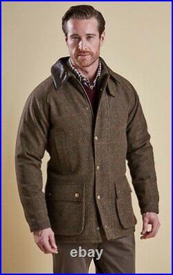 BARBOUR Gamefair Tweed Leather Coat £379 Size Large 40/42 50 Mr Porter Schoffel