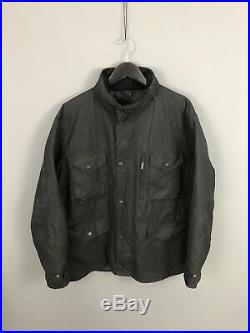 BARBOUR SAPPER QUILTED WAX Jacket XL Hooded Great Condition Mens