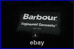 BARBOUR x ENGINEERED GARMENTS Navy Highland Wax Parka Size Large 40/42 Jacket