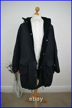 BARBOUR x ENGINEERED GARMENTS Navy Highland Wax Parka Size Large Mr Porter Coat