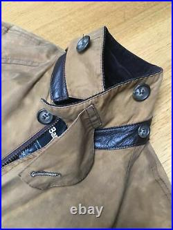 Barbour Beauchamp C36 Mens S-M 44in Thick Warm Waxed Country Hunting Jacket