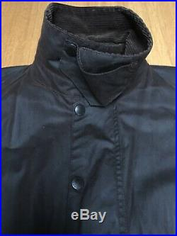 Barbour Beaufort Mens XXL 58in C50 Brown Waxed Hunting Field Jacket Excellent