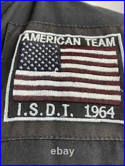 Barbour International steve mcqueen american team isdt 1964 baker 38 Black Used