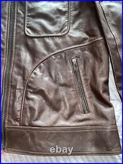 Belstaff Weybridge Sport Mens Leather Jacket Size 44 UK 54IT Rrp £1350