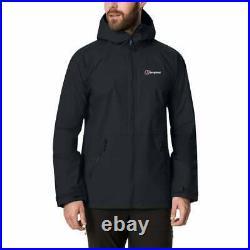 Berghaus Mens Deluge Pro 2.0 Waterproof Hydroshell Jacket (Black)