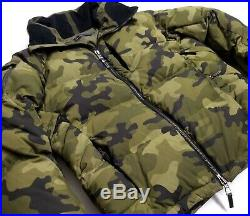 Black Label Ralph Lauren Polo Military Army Camo Down Combat Field Jacket Puffer