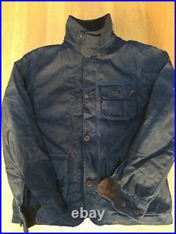 Excellent Ralph Lauren Mens S 42in Waxed Oilcloth Country Hunting Jacket