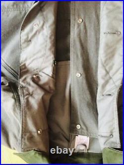 Filson Upland Shelter Waterfowl Coat Tin Cloth Field Cruiser Jacket Medium S