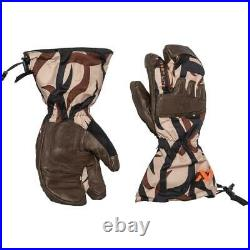 First Lite Grizzly Trigger Mitten ASAT Camo Leather Sherpa Wool Very Cold M