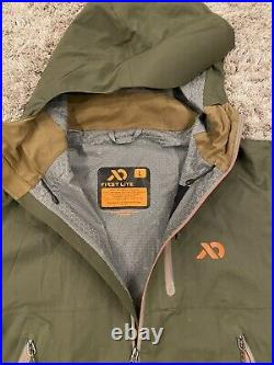 First Lite Men's Boundry Stormtight Waterproof Jacket LARGE Conifer