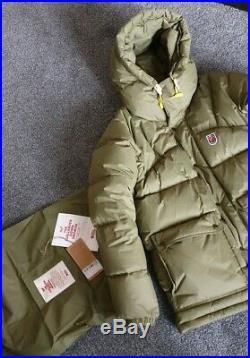 Fjallraven Expedition Down Lite Olive Green parka jacket Size Medium to Large