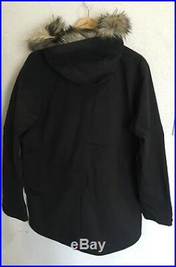 Fjallraven Keb Eco-Shell Jacket Men Medium Black Waterproof Windproof Hard Shell