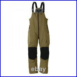 Frabill F3 Gale Bibs, Brown, XX-Large Rain/Ice Fishing Pants Bibs MSRP $250