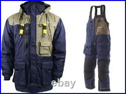 Frabill I4 Jacket & Bib Insulated Ice Fishing Suit, Blue, Large MSRP $600