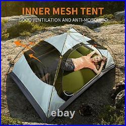 HEWOLF 2 Man Lightweight Backpacking Tent Waterproof Dome Tent Windproof