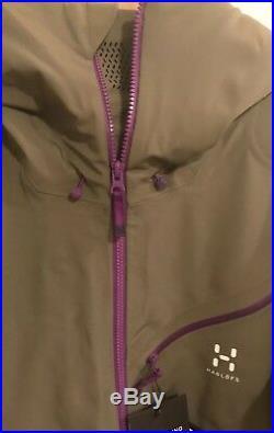Haglofs Mens Couloir Pro Gore-Tex Soft Shell Ski Jacket. Driftwood. Large. NWTs