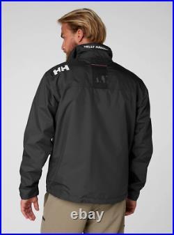 Helly Hansen Crew Midlayer Fleece Lined Waterproof Jacket 30253/990 Black NEW