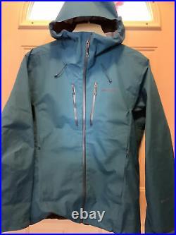 LARGE Patagonia Men's Triolet Alpine Jacket withRecco Beacon, Balkan Blue, Goretex