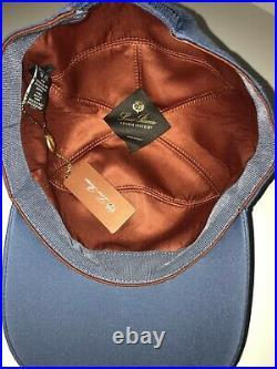 Loro Piana FAF8517 Baseball Cap Blue Size L Made in Italy
