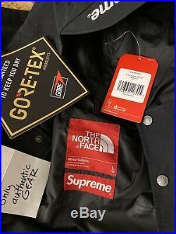 MINT FW18 Supreme The North Face Expedition Jacket L LARGE Black GORETEX Cordura