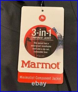 Marmot Mens Minimalist Component Gore-Tex Jacket. Small. Dark Steel (MSRP $350)