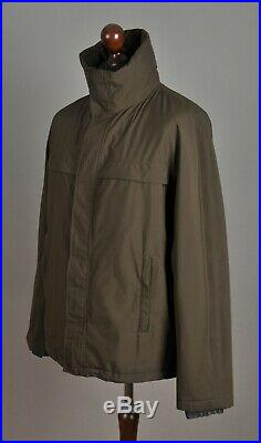 Men's PRADA SGV 155 Gore-Tex Shell Ski Jacket Polyester Brown Hooded Size 50