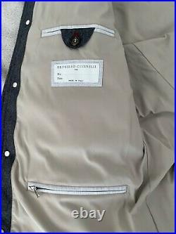 Mens Brunello Cucinelli Coat Jacket waterproof windproof wool down Large 50 52