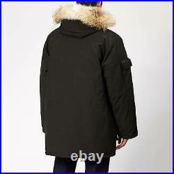 Mens Canada Goose Expedition Down Parka Fur Arctic Winter Coat Black L £995 New