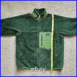 Mens Patagonia Retro X Deep Pile Fleece Jacket Rare Green Size Medium