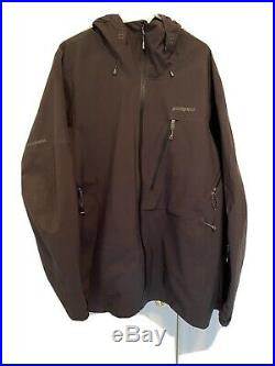 Mens Patagonia Untracked Hooded Jacket GORETEX Shell Lined XL RECCO Black