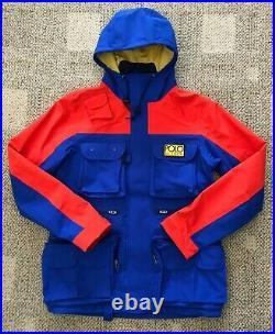 Mens Polo Ralph Lauren Hi Tech Color Block Waterproof Jacket Size Small Royal