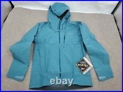 Mens Small Patagonia Calcite GTX Rain Wind proof Jacket $249 84986 Teal Gore-Tex