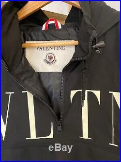 Mens Valentino VLTN Collaboration Medium Hooded Black Jacket