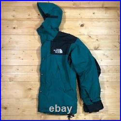 Mens Vintage THE NORTH FACE MOUNTAIN JACKET GORE TEX Rain Coat -Forest Green -M