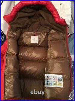 Moncler Eloy Guibotto Jacket Size 2 Red EUC
