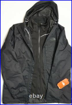 NEW $219 The North Face Layered Coat Mens Black DryVent Triclimate Standard Fit