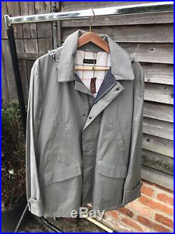 NEW! LORO PIANA Grey Raincoat With Hood. Storm System BNWT Size Large Montville