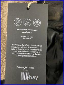 NEW! NORWEGIAN RAIN one size S-CAPE Unisex Oversized Cape Raincoat, dark navy