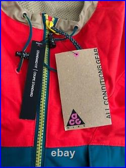 NEW Nike Nikelab Anorak ACG Hiking Retro Jacket Orange Mens Size XL AQ2294-634
