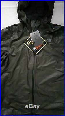 NEW THE NORTH FACE MEN'S HYPERAIR GORE-TEX TRAIL BLACK JACKET WithHOOD SIZE L